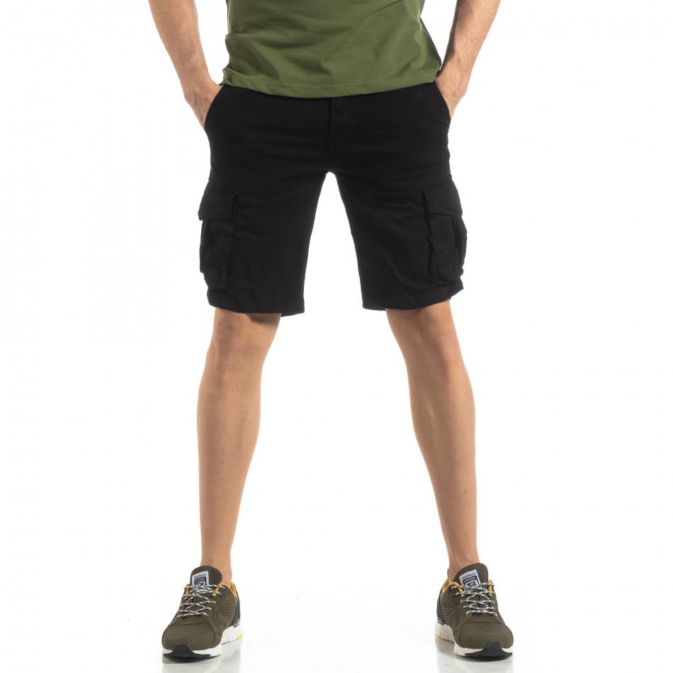 Мъжки карго бермуди в черно it210319-38