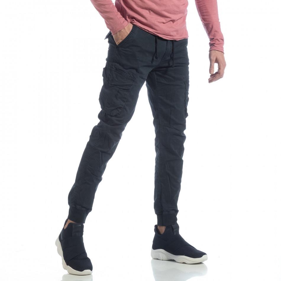 Мъжки Cargo Jogger панталон в тъмно синьо it040219-30