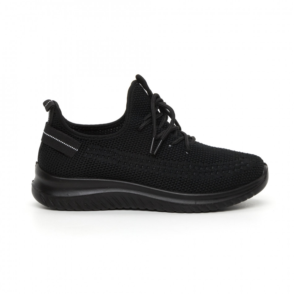Черни плетени мъжки маратонки it130819-27