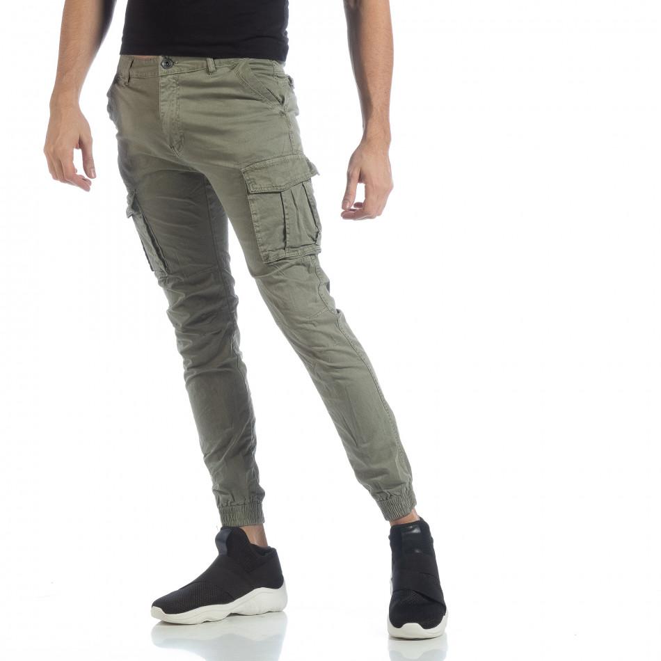 Мъжки Jogger карго панталон в зелено it040219-37