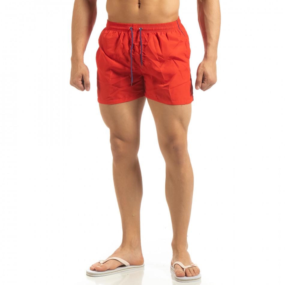 Мъжки червен бански син кант it090519-82