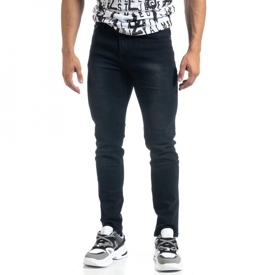 Slim fit мъжки черни дънки it041019-19