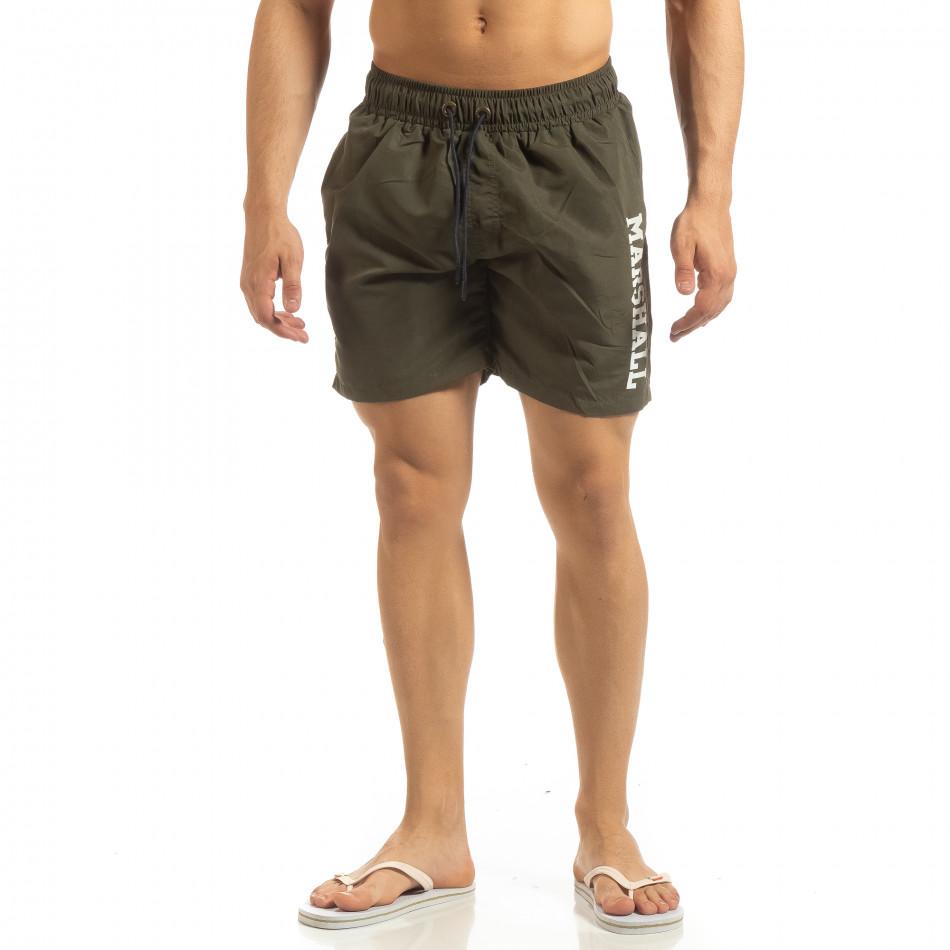 Мъжки бански Marshall в милитъри зелено it090519-64
