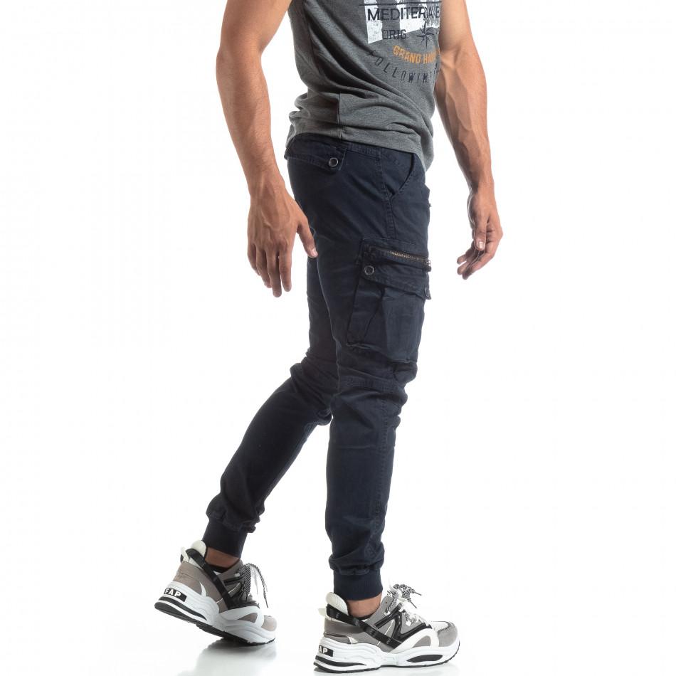 Мъжки син панталон Cargo Jogger  it170819-8