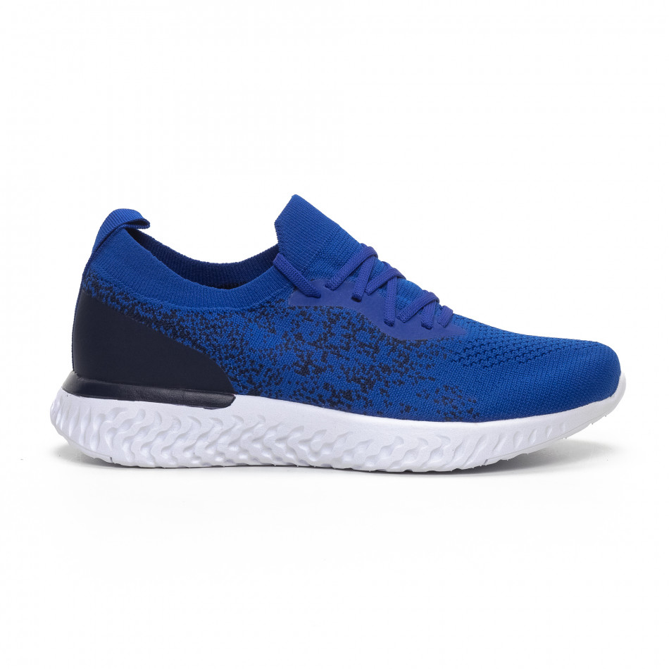 Меки мъжки маратонки син меланж it240419-11