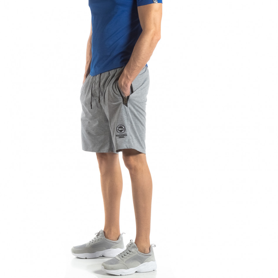 Мъжки спортни шорти в сиво it210319-74