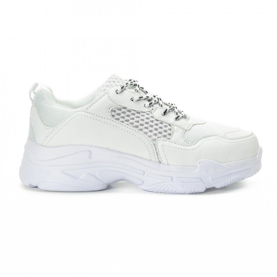 All white мъжки комбинирани маратонки it221018-39