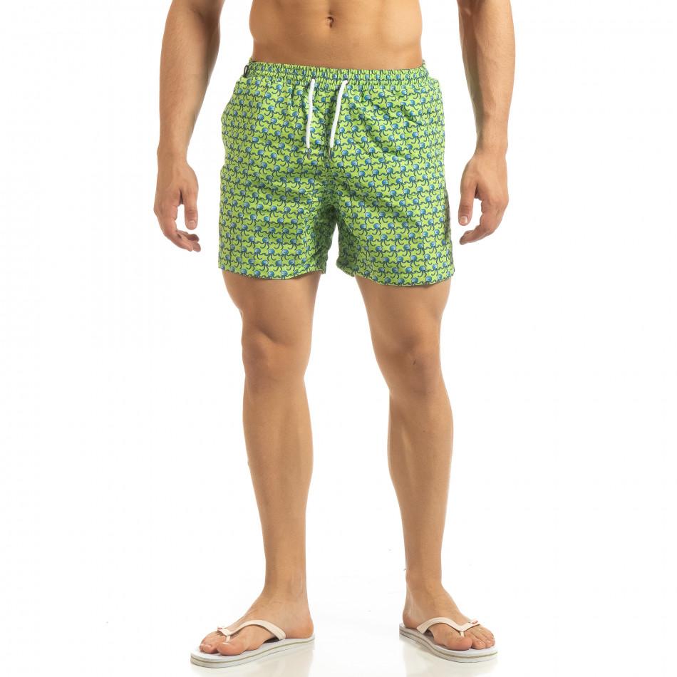 Мъжки зелен бански Octopus мотив it090519-94