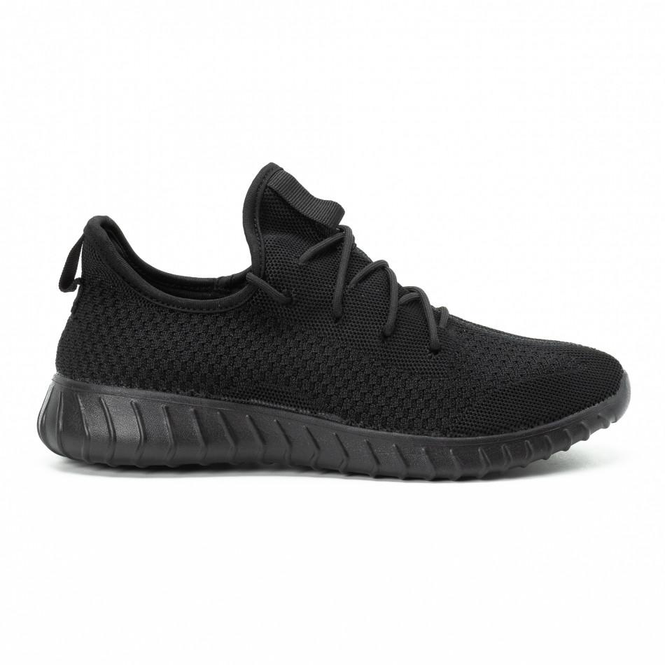 Леки мъжки маратонки от текстил All black it140918-10