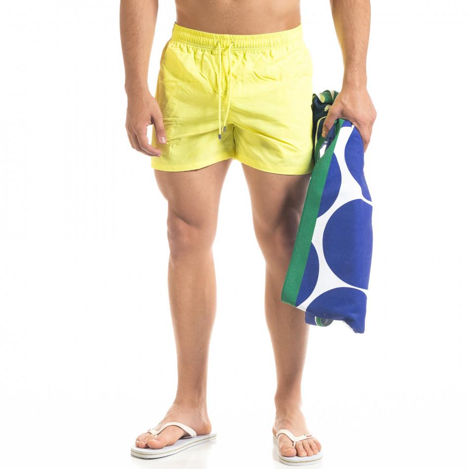 Basic мъжки бански в неоново жълто it050620-21