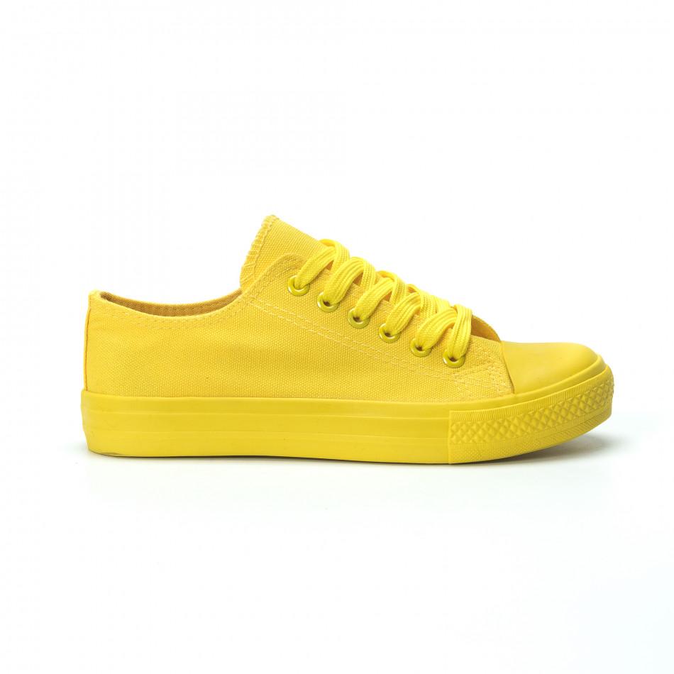 Жълти дамски гуменки it250119-73