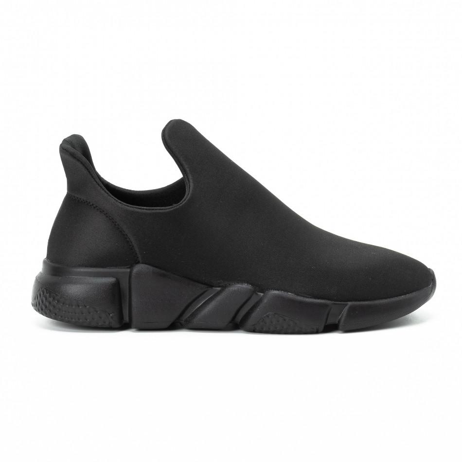 Мъжки slip-on маратонки от неопрен All black it140918-15