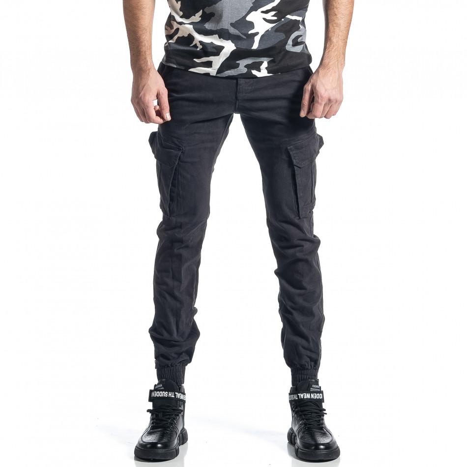 Сив панталон Cargo Jogger с ципове на крачолите it010221-44