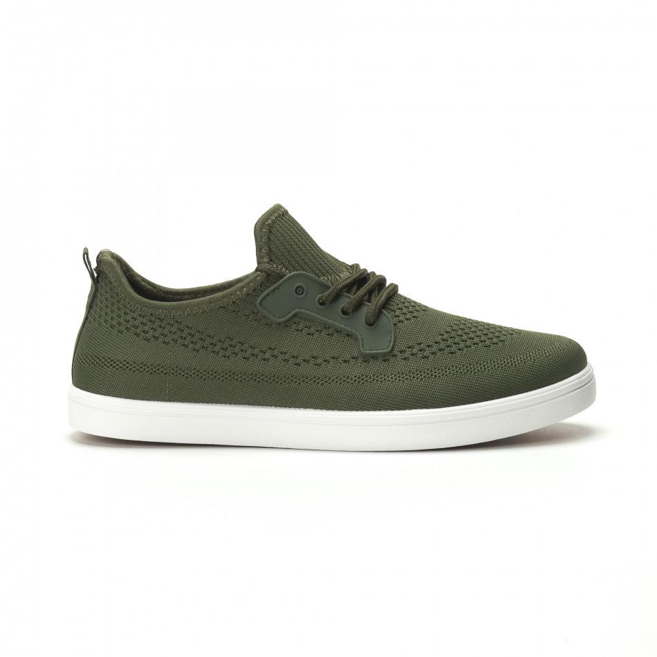 Мъжки леки спортни обувки в милитъри зелено it250119-15
