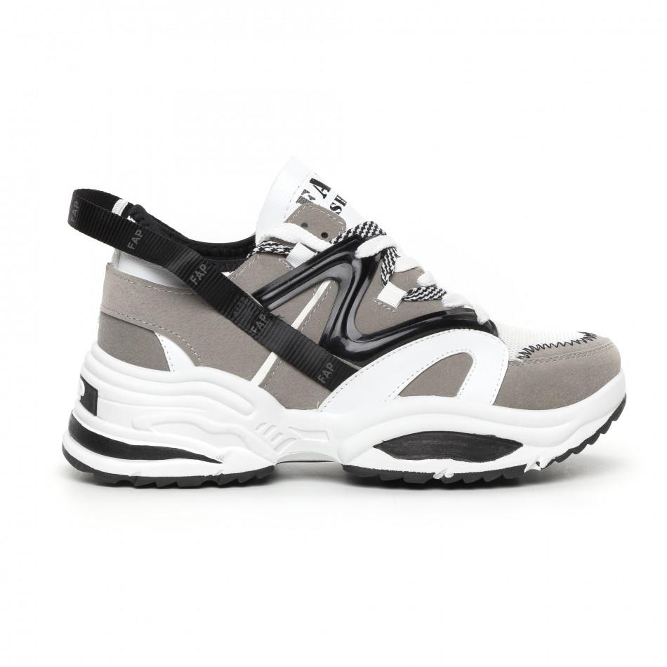 Мъжки сиви маратонки Chunky дизайн it130819-30