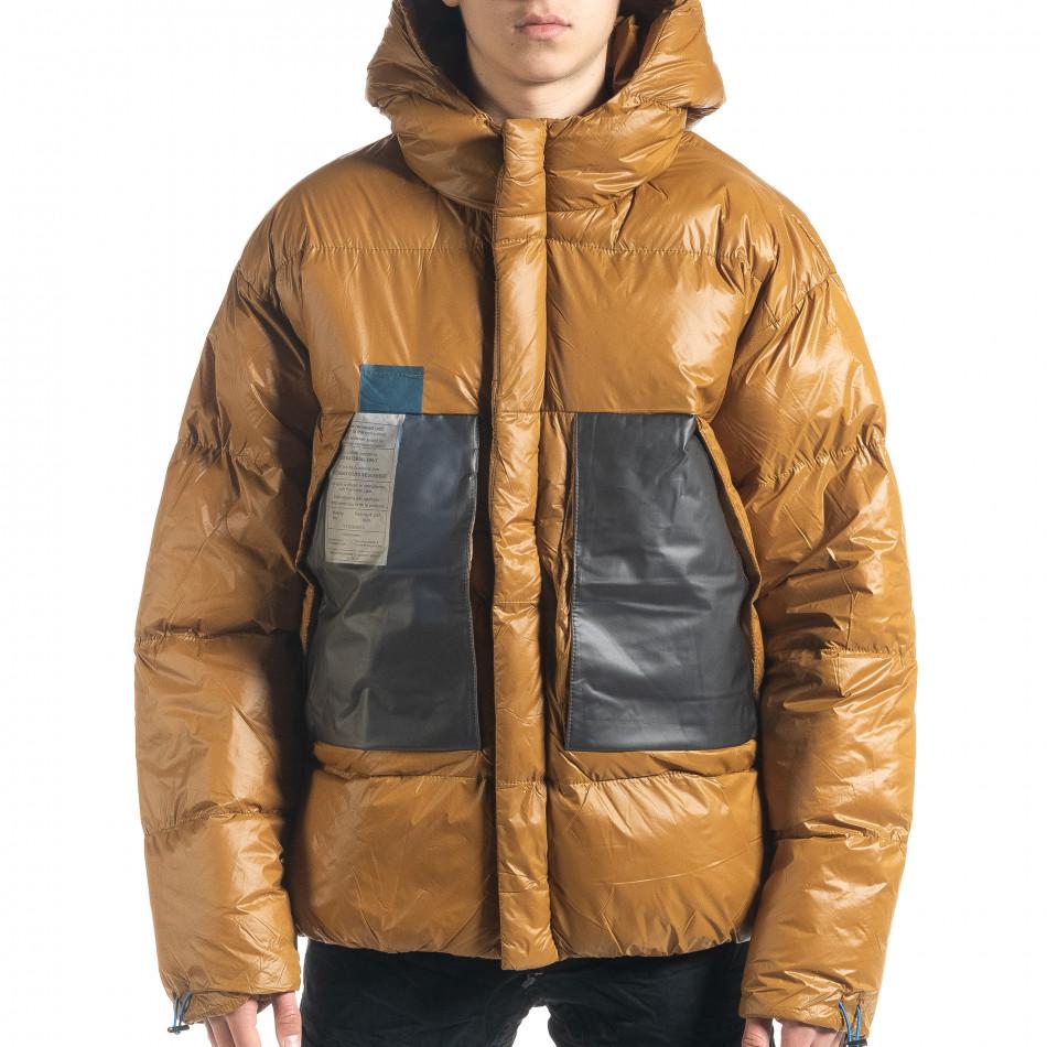 Мъжка пухенка с качулка и големи джобове it091219-15