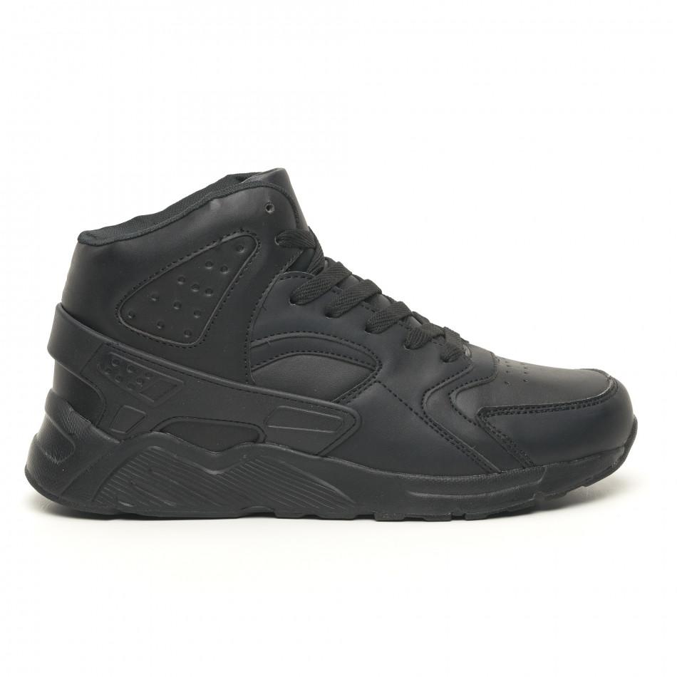 Леки високи мъжки маратонки All black it251019-4