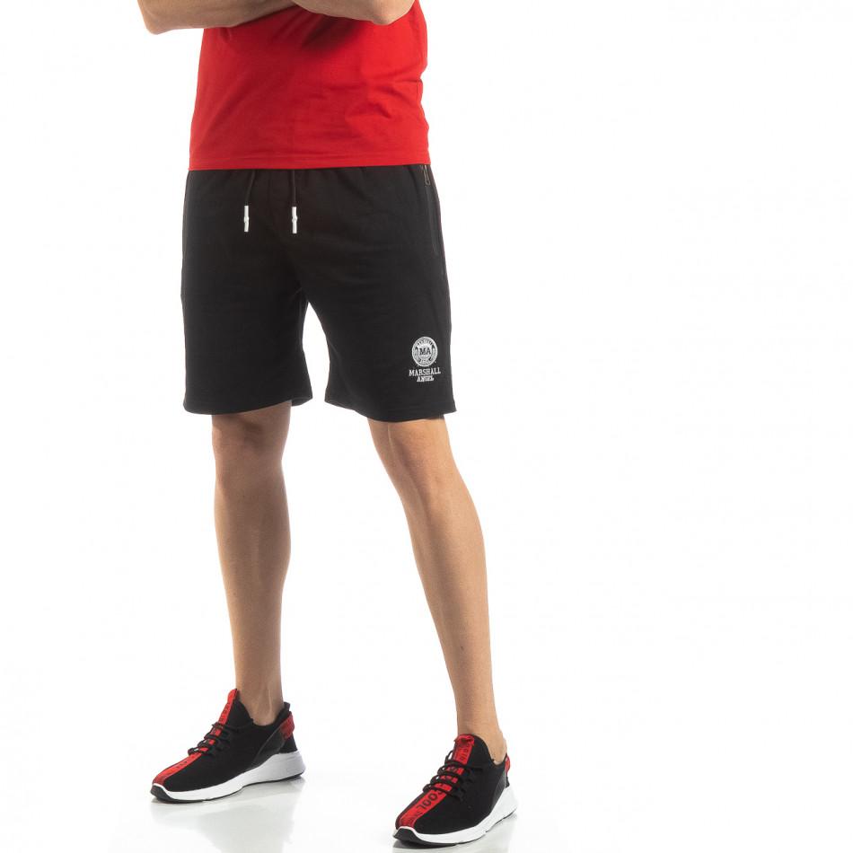 Мъжки спортни шорти в черно it210319-72