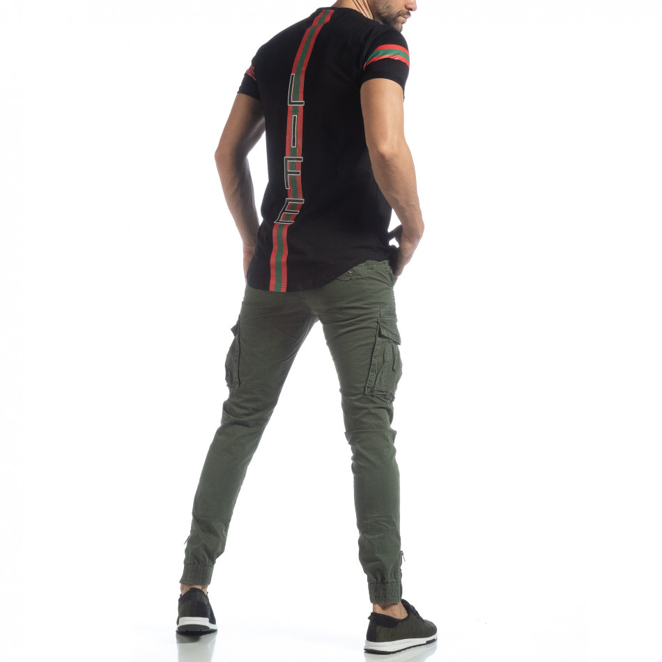 Зелен карго панталон с ципове на крачолите it040219-35