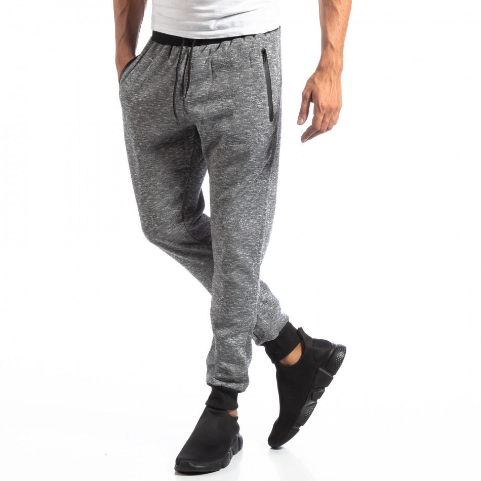 Мъжки Jogger в сив меланж it250918-35