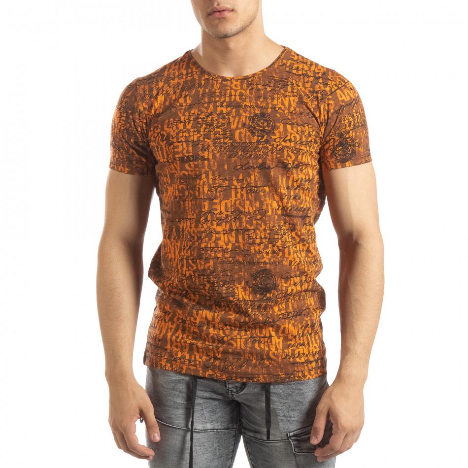Vintage мъжка тениска в оранжево it150419-104