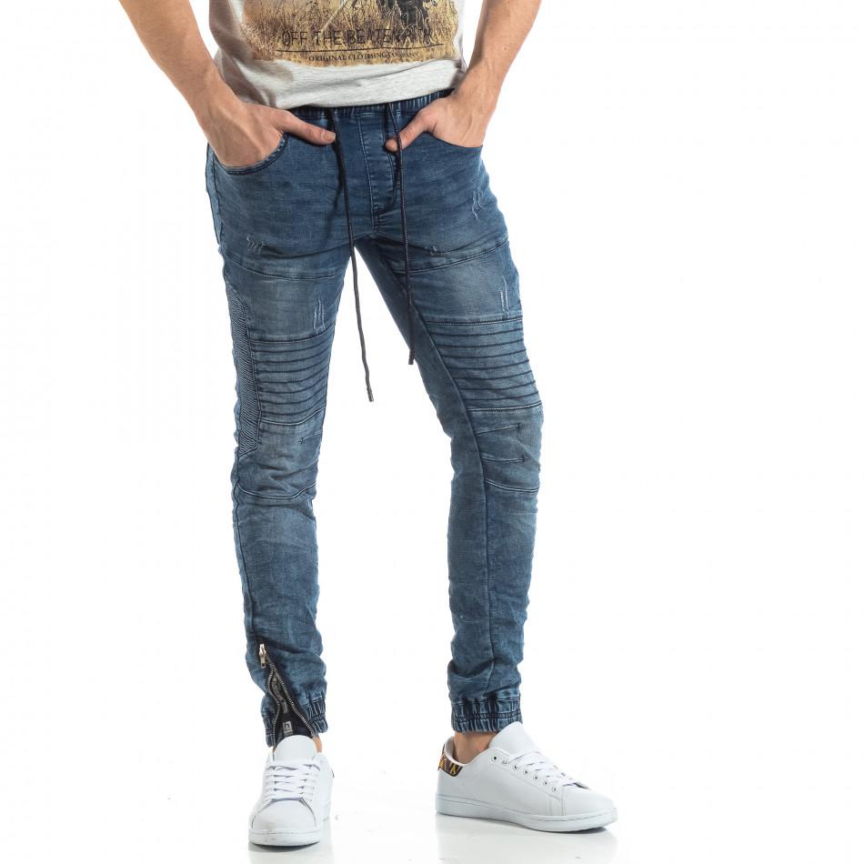 Мъжки син Jogger Jeans в рокерски стил it210319-10