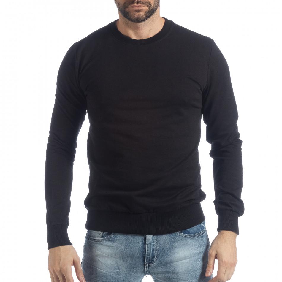 Basic мъжка черна блуза it040219-93