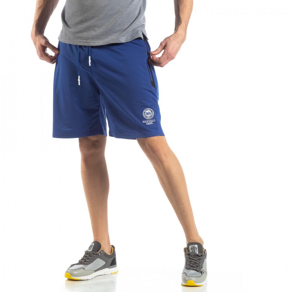 Мъжки спортни шорти в ярко синьо it210319-70
