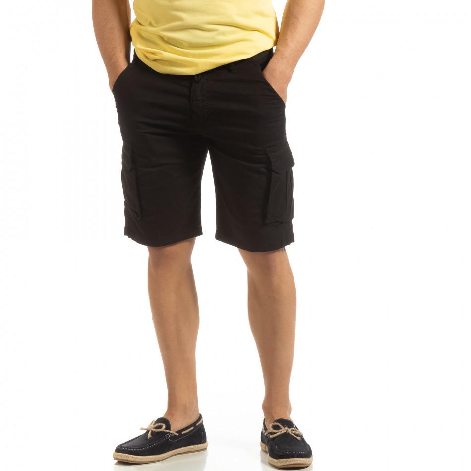 Черни мъжки карго бермуди it090519-23