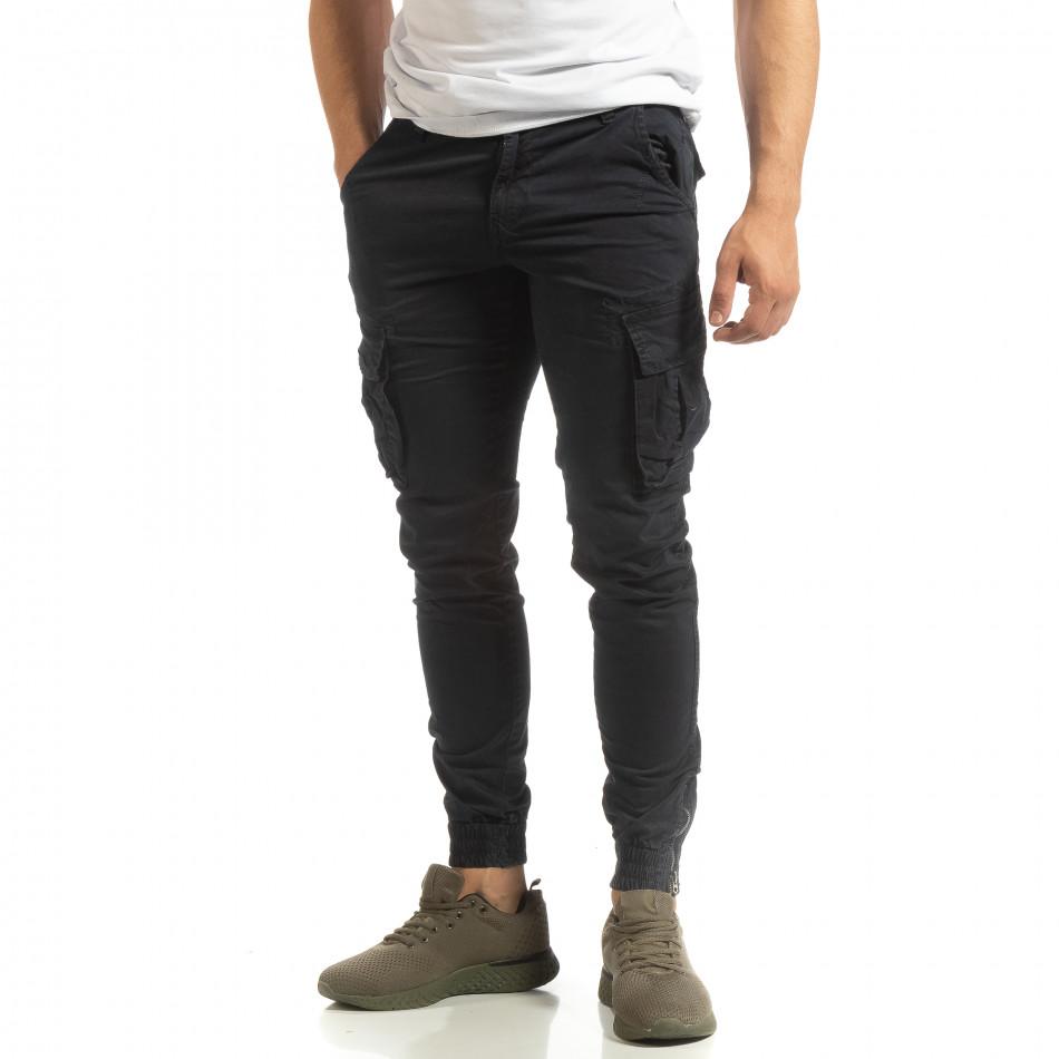 Мъжки син карго джогър с ципове на крачолите it090519-12
