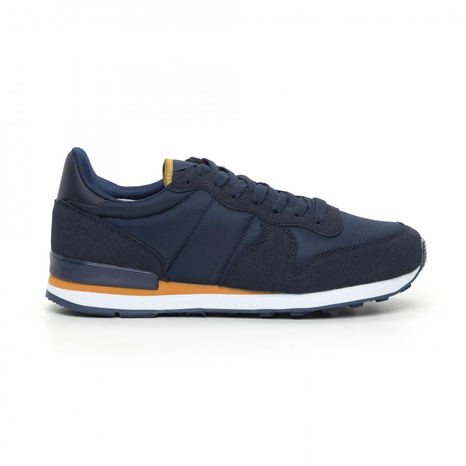 Леки мъжки сини маратонки it130819-14