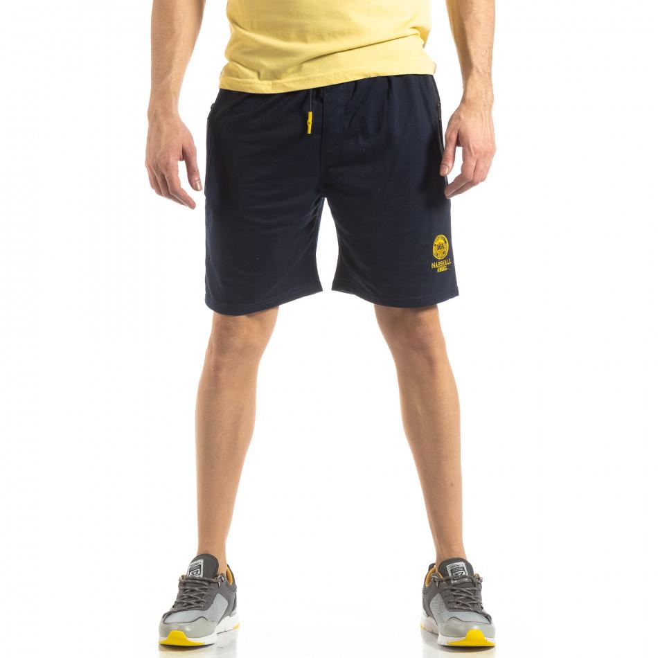 Мъжки спортни шорти в тъмно синьо it210319-73