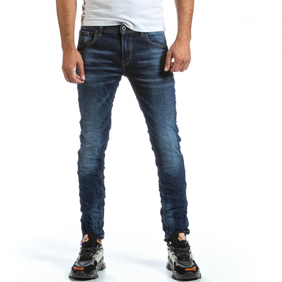 Мъжки намачкани сини дънки it070921-2