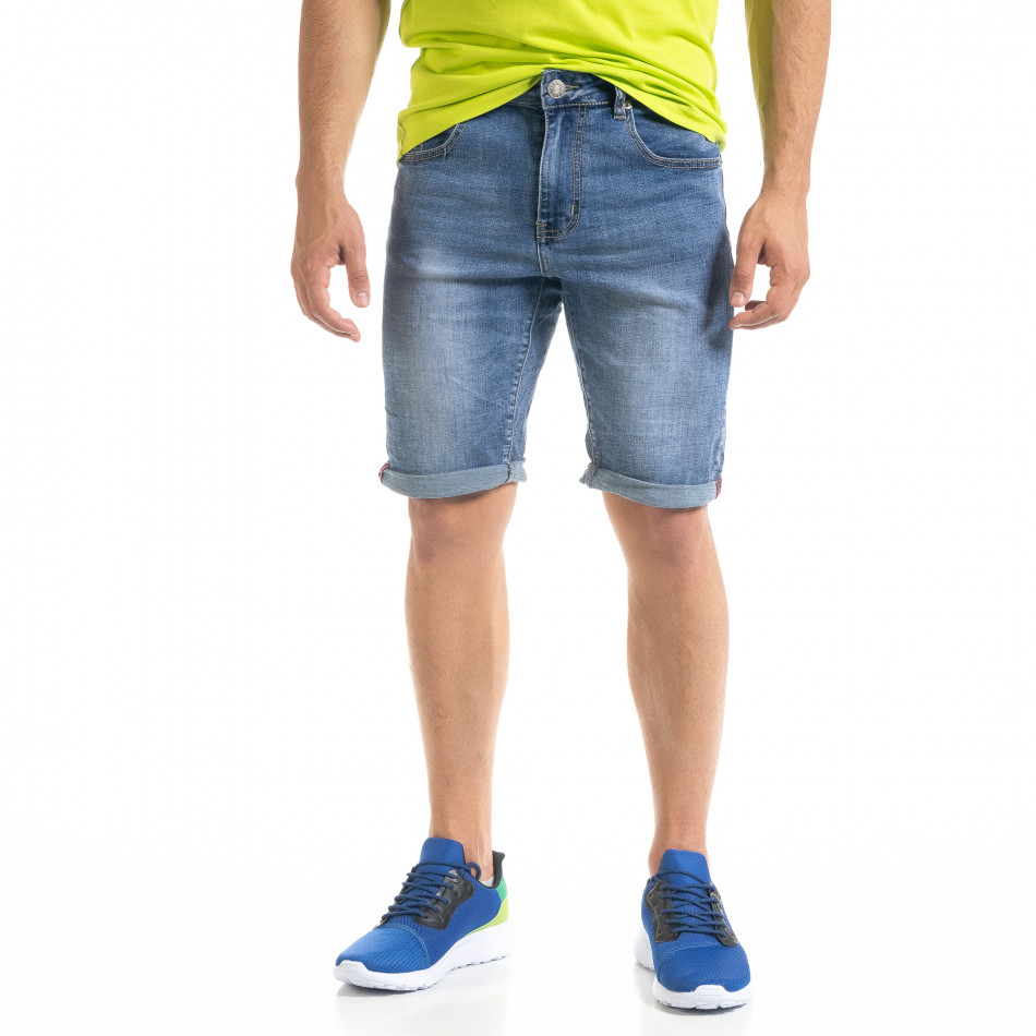 Basic мъжки сини къси дънки it050620-8