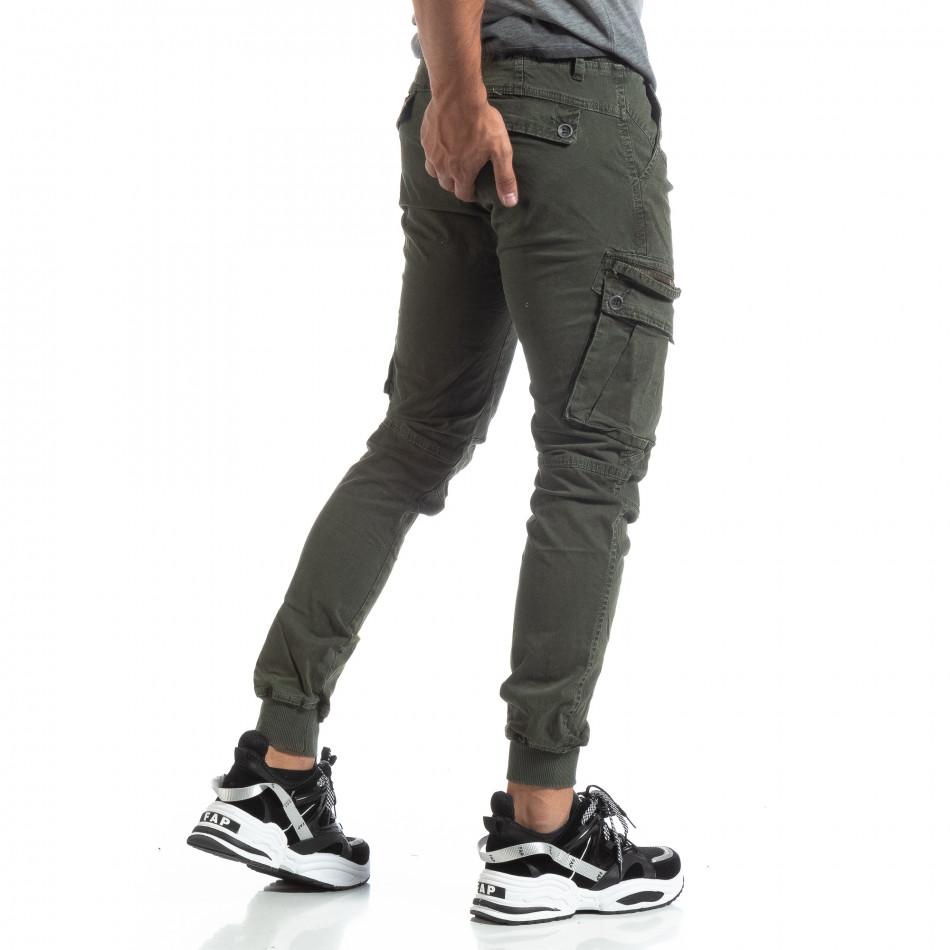 Мъжки зелен панталон Cargo Jogger  it170819-7