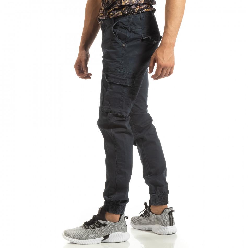Мъжки карго джогър панталон в синьо it090519-10