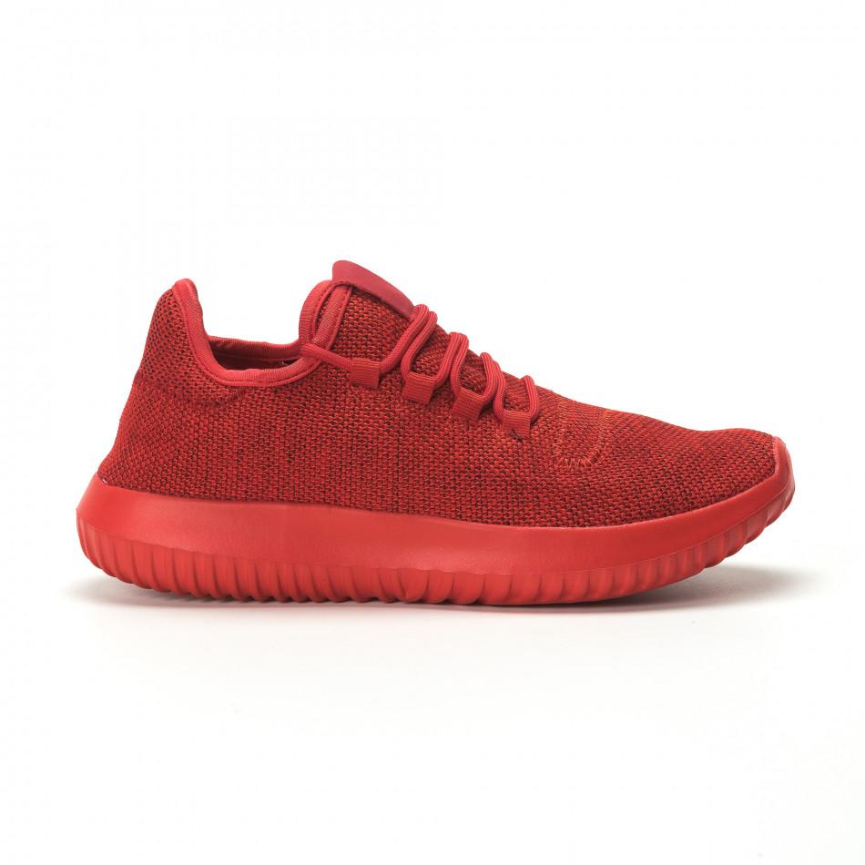 Мъжки олекотени червени маратонки All Red it250119-20