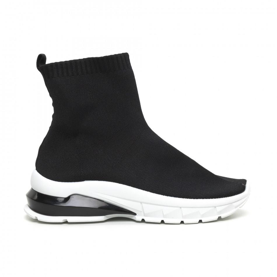 Черни дамски маратонки тип чорап it260919-53