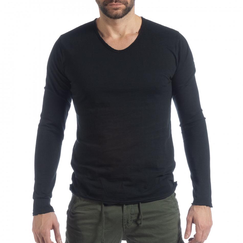 Мъжка блуза V-neck в черно it040219-88