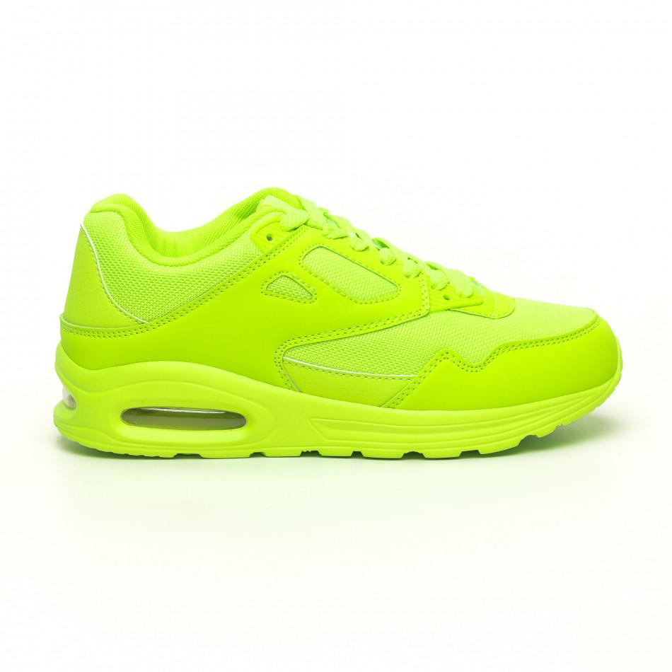 Мъжки маратонки с въздушна камера неоново зелено it251019-9
