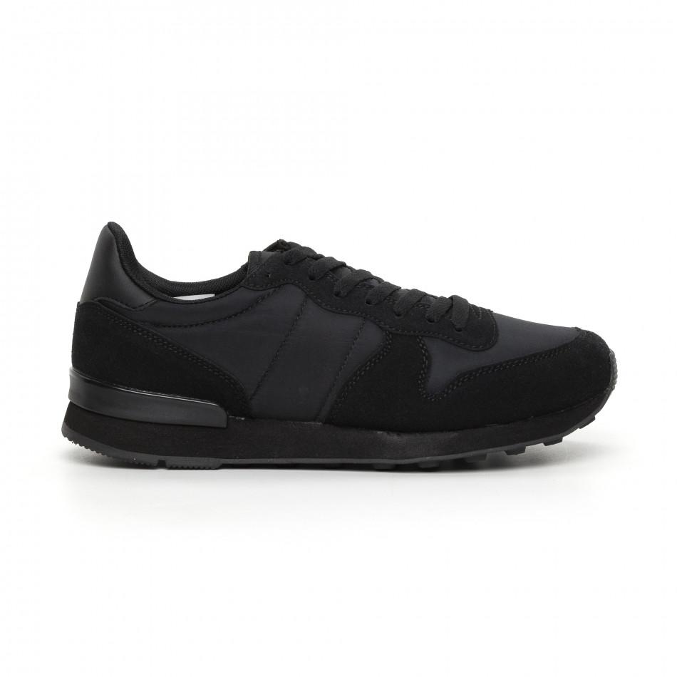 Леки мъжки черни маратонки it130819-13