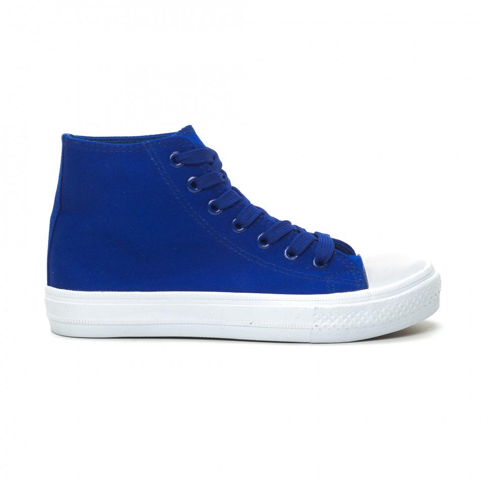 Basic дамски сини високи кецове  it150319-34