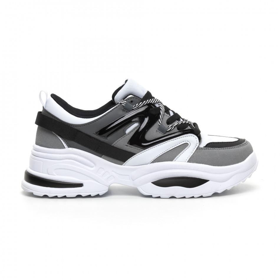 Сиви мъжки маратонки Chunky дизайн it260919-33