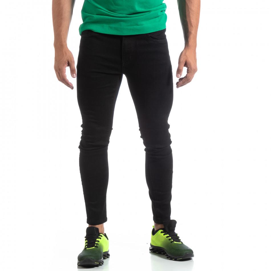 Мъжки черни дънки Skinny fit  it170819-42