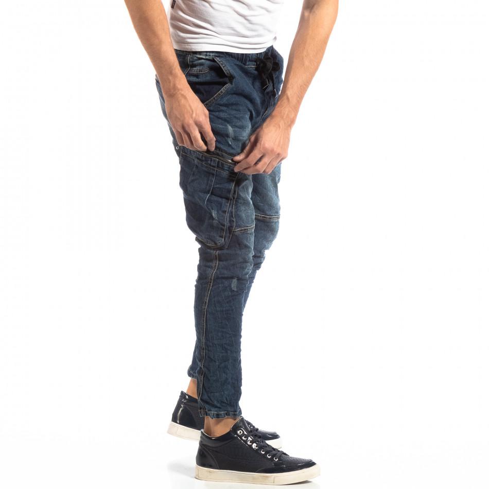 Мъжки сини дънки Cargo Carrot it261018-16