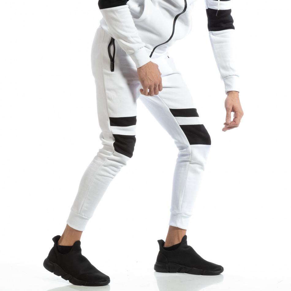 Мъжки Jogger в бяло с черни зони it261018-61
