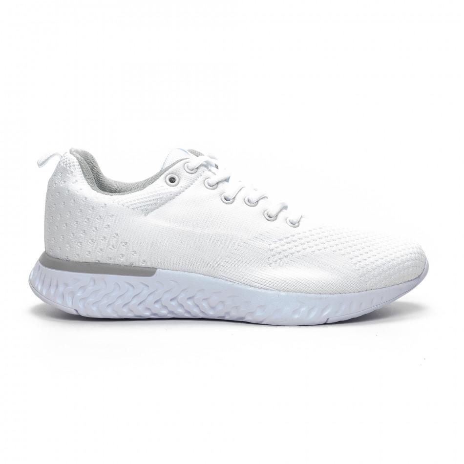 Плетени мъжки бели маратонки it240419-13