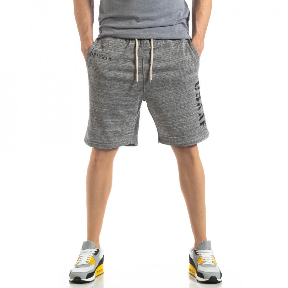 Мъжки шорти сив меланж it210319-62