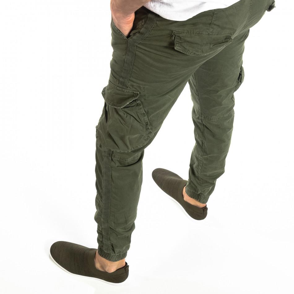 Мъжки Cargo Jogger в милитъри зелено it210319-17