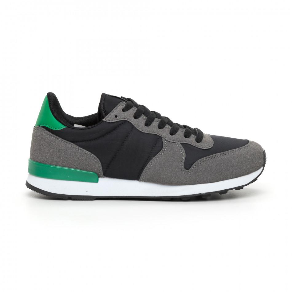 Леки мъжки маратонки зелен акцент it130819-15